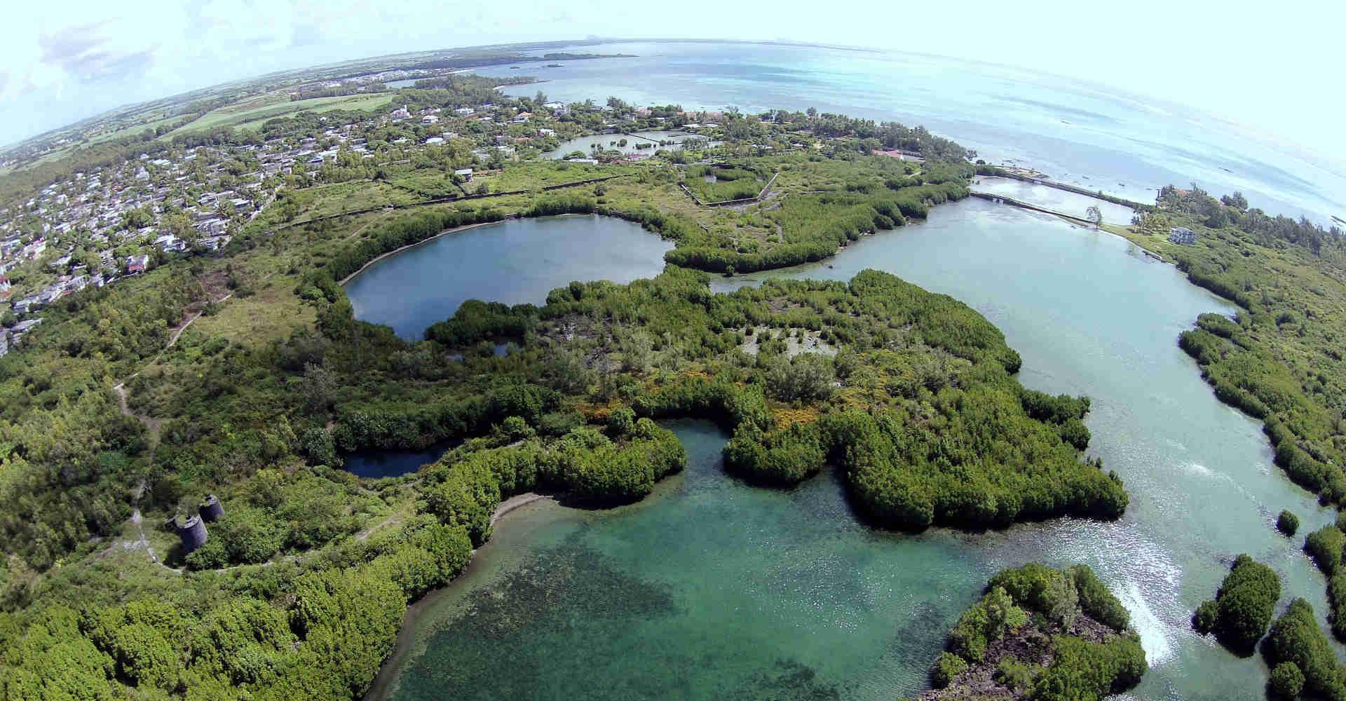 Coastal ecologically sensitive areas in Mauritius