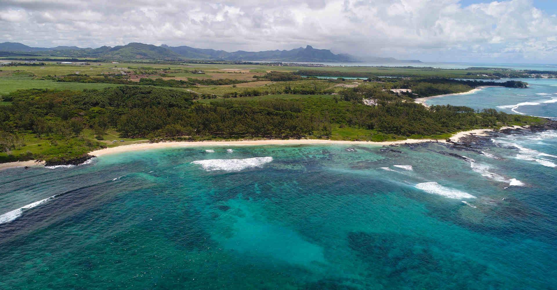 La Cambuse beach in the south of Mauritius