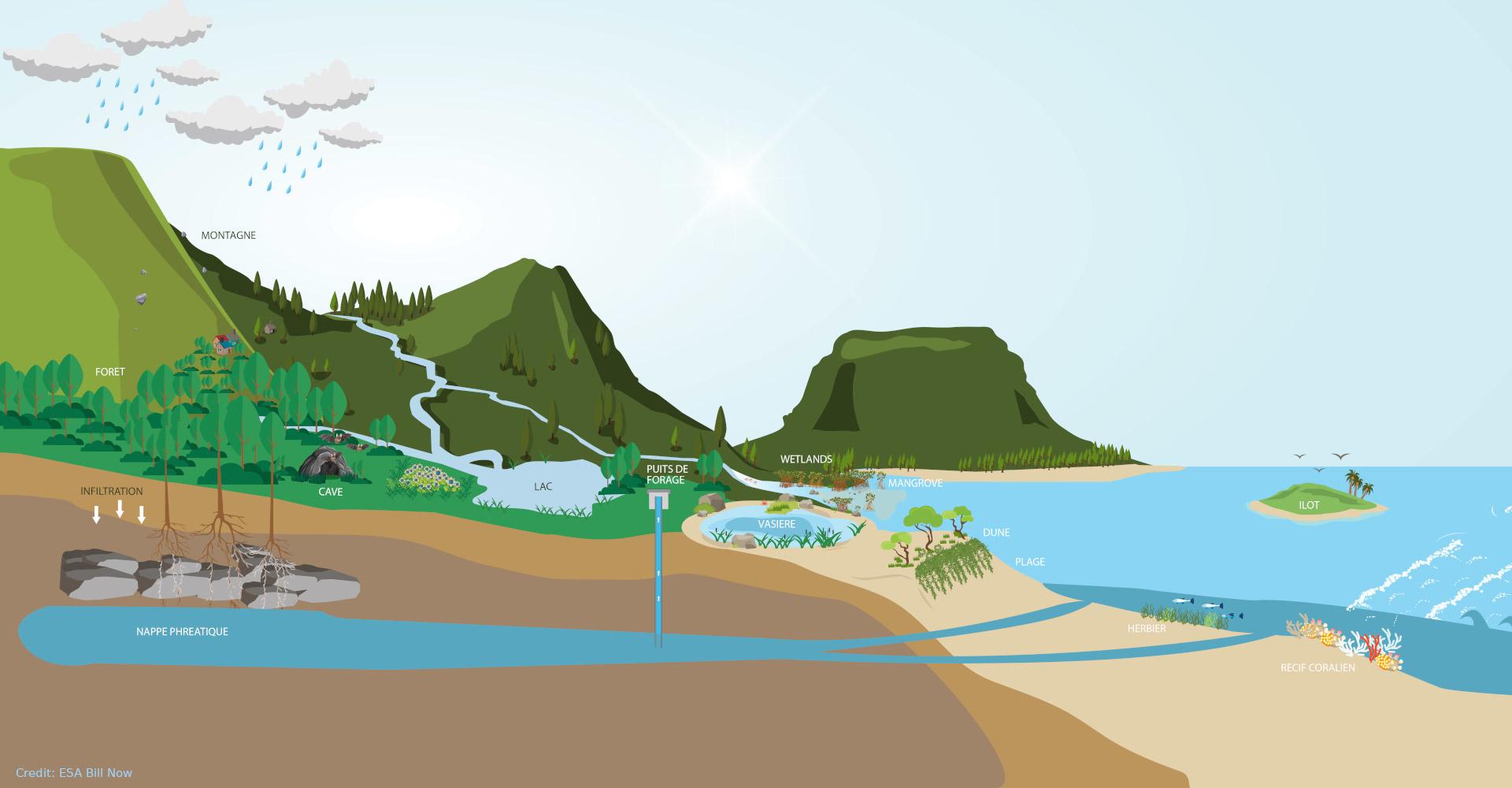 Ridge-to-Reef concept in Mauritius